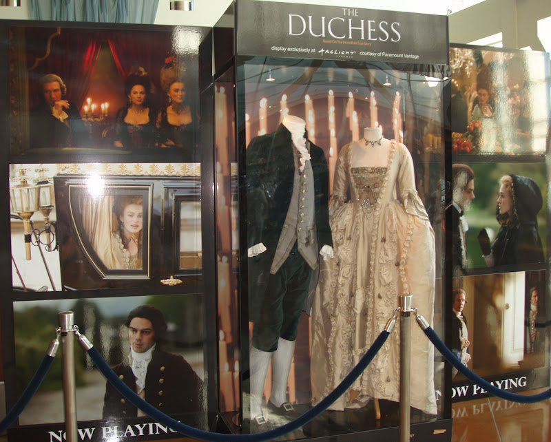 The Duchess original movie costume display at ArcLIght Hollywood