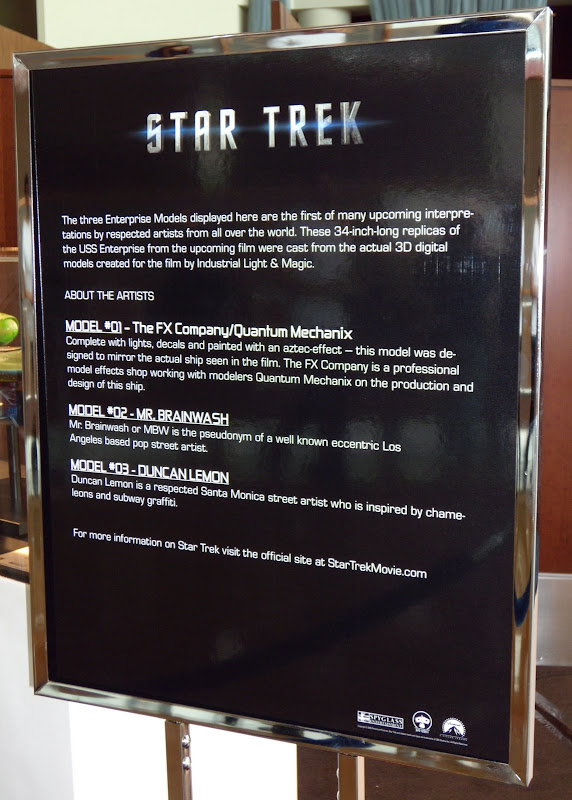 Star Trek Enterprise model info sign