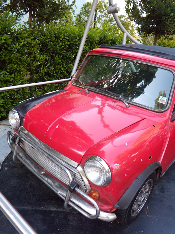 The Bourne Identity red Mini Cooper movie car