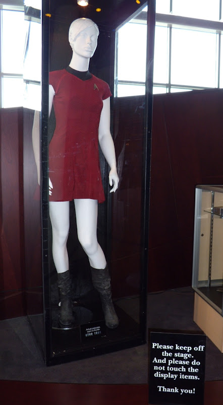 Star Trek movie female red Starfleet uniform