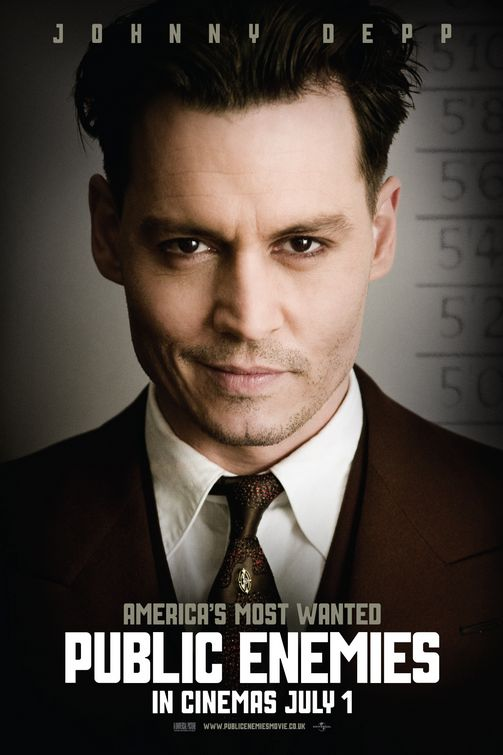 Public Enemies movie poster. Johnny Depp Public Enemies movie poster