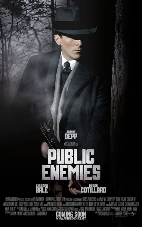 Christian Bale Public Enemies movie poster