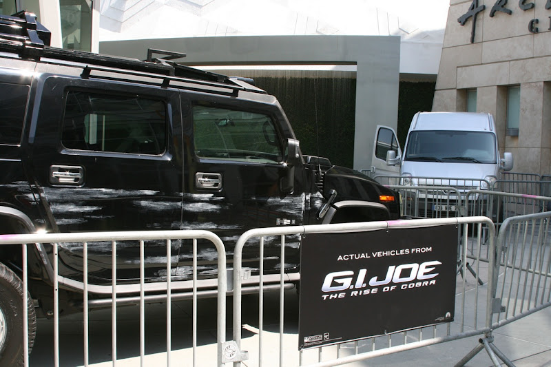 Actual GI Joe movie vehicles