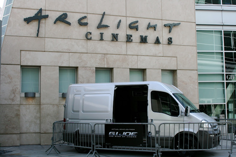 GI Joe movie vehicles at ArcLight Hollywood