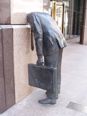Corporate Head sculpture at Ernst & Young Plaza