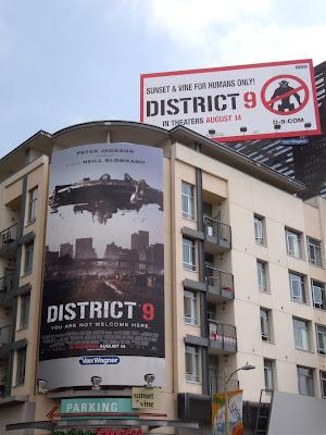 District 9 film billboards on Sunset & Vine