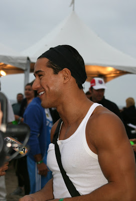 Celebrity Mario Lopez at Malibu Triathlon