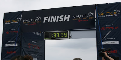 Malibu Triathlon Finish line