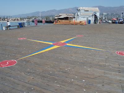 Santa Barbara's Stearns Wharf wooden pier