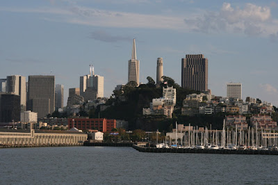 San Francisco skyline view from the Bay