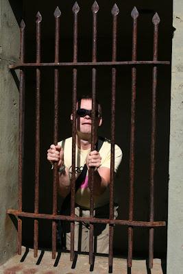 Jason in Hollywood behind bars