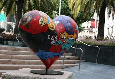 TK Stephens Hearts of San Francisco sculpture