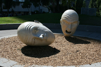 Robert Arneson Yin and Yang sculpture San Francisco