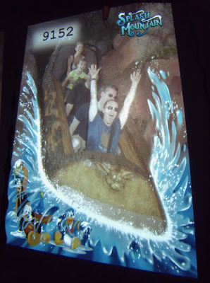 Jason rides Splash Mountain at Disneyland