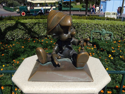 Pinocchio sculpture at Disneyland