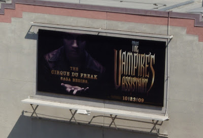 The Vampire's Assistant movie billboard