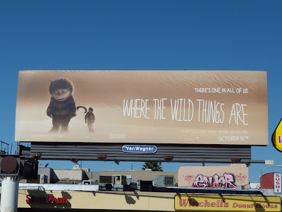 Where the wild things are movie billboard