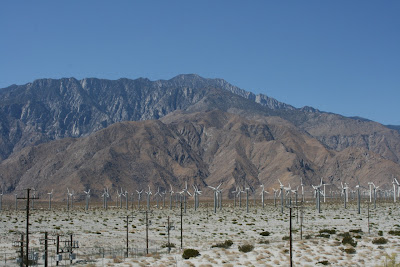 Wind turbines in Palm Springs
