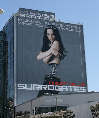 Surrogates movie billboard