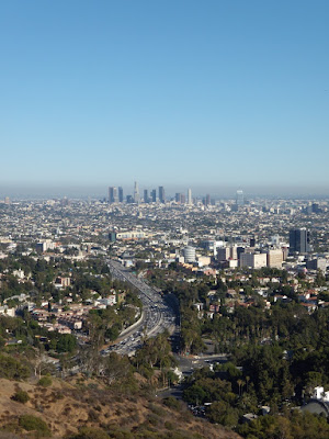 Downtown LA view at 5pm on a clear day