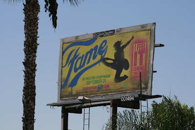 Fame film billboard