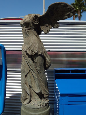 Winged Victory replica statue at Disneyland