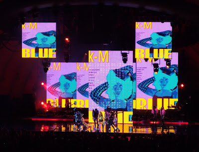 Kylie Minogue performs at her Hollywood Bowl concert