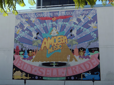Amoeba Music angels mural