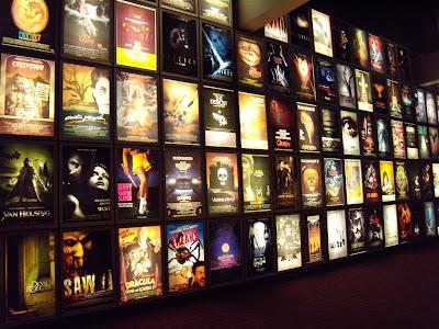 Wall of horror posters ArcLight Sherman Oaks cinema