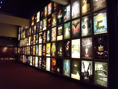 ArcLight Sherman Oaks cinema wall of horror movies