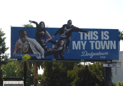 Black Eyed Peas LA Dodgers billboard