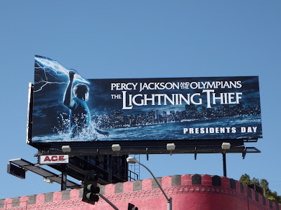 The Lightning Thief movie billboard