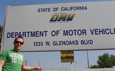 Jason outside Glendale California DMV
