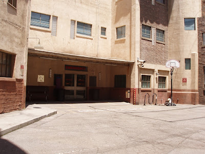 ER ambulance bay entrance at Warner Bros Studios