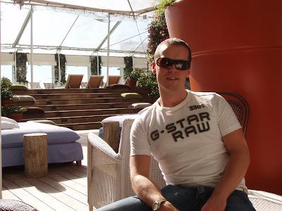 Jason relaxing at Sky Bar