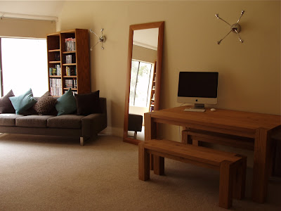 Crate & Barrell furnished living room