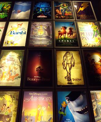 ArcLight Sherman Oaks cinema animation poster wall