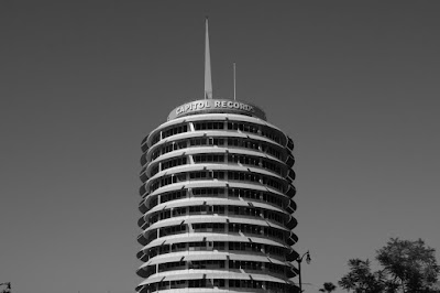 Capitol Records Tower in mono