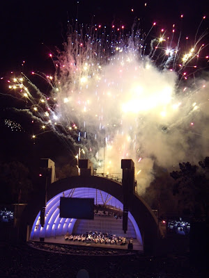 Spectacular fireworks at the Hollywood Bowl
