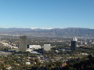 San Fernando Valley snow capped mountain view