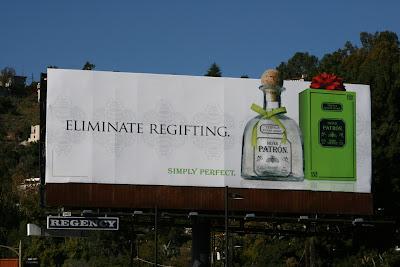 Patron Tequila regifting billboard