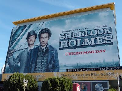 Sherlock Holmes USA movie billboard