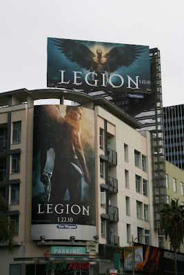 Winged angel Legion movie billboards