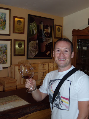 Jason enjoys Carmel Valley wine tasting