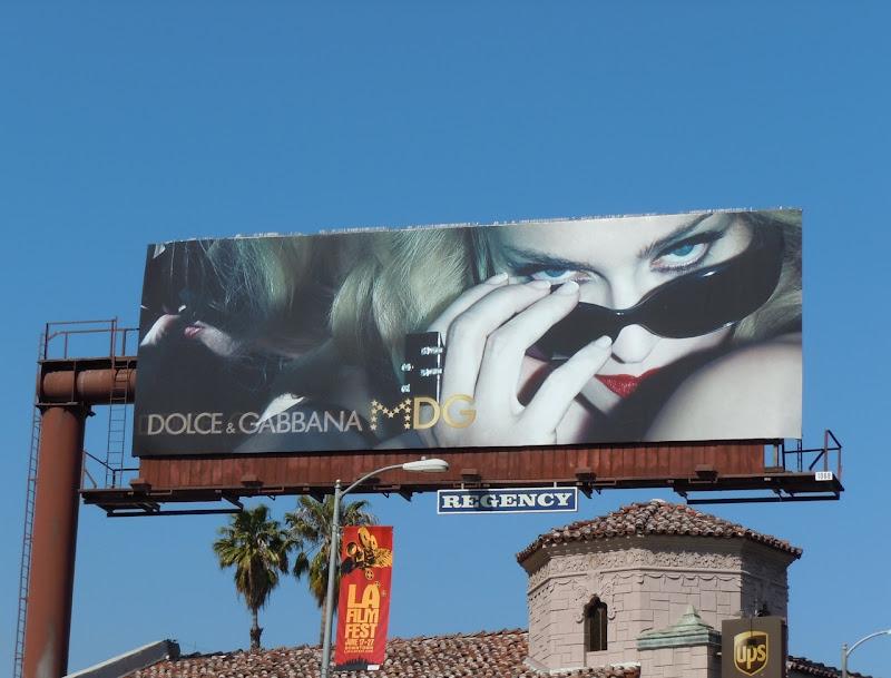 Madonna Dolce Gabbana MDG eyewear billboard