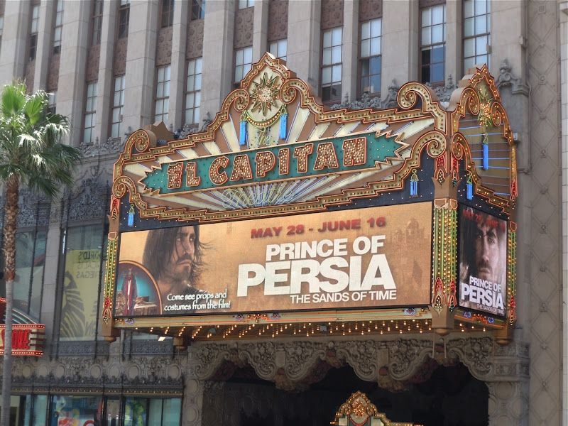 Prince of Persia exhibit at El Capitan