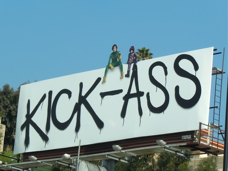 Kick-Ass unmasked movie billboard