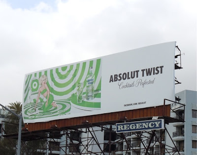 Absolut Twist vodka billboard