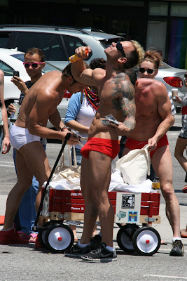 Tattoo muscle guy LA Pride 2010