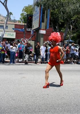 Drag striding WEHO Pride 2010